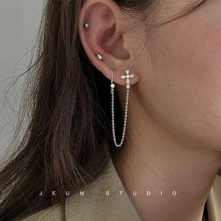 Rhinestone   Earring   Cross