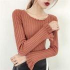 Plain Ribbed Sweater 1596