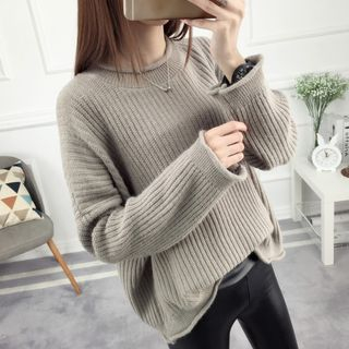 Image of Rib Knit Sweater