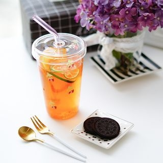 Glass Cup with Straw 1065125365