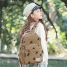Canvas Star Printed Backpack 1596