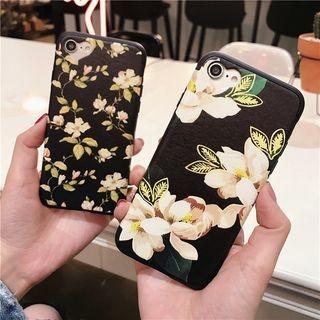 Floral Print Phone Case - Apple iPhone 6 / 6 Plus / 7 / 7 Plus 1060071671