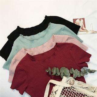 Ribbed Short-Sleeve T-shirt 1059428815