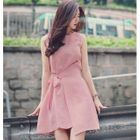 Sleeveless Tie-Waist Mini A-Line Dress 1596
