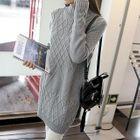 Long-Sleeve Knit Dress 1596