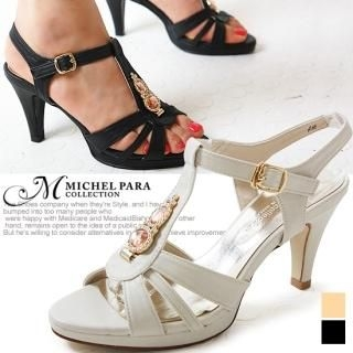 Buy MICHEL PARA COLLECTION Rhinestone T-Strap Sandals 1022946595