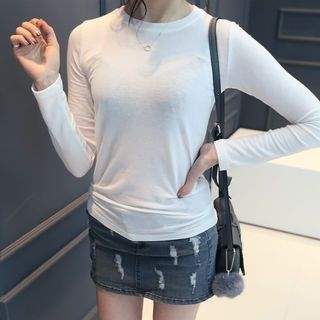 Long-Sleeve Slim-Fit T-Shirt 1057286392