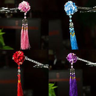 Image of Retro Floral Tassel Hair Stick