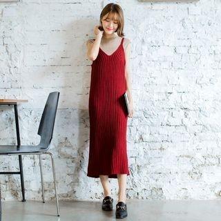 Sleeveless Ribbed Sweater Dress 1063323951