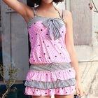 Set: Patterned Bikini + Cover Up + Skirt 1596