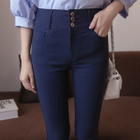 Buttoned Skinny Pants 1596