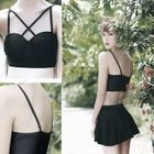 Set: Cross Bikini + Skirt 1596