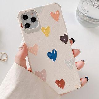 Image of Heart Print Phone Case - iPhone 11 Pro Max / 11 Pro / 11 / SE / XS Max / XS / XR / X / SE 2 / 8 / 8 Plus / 7 / 7 Plus / 6s