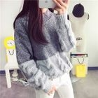 Color-Block Cable-Knit Sweater 1596
