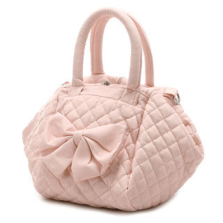 Buy Smoothie Bow Quilted Handbag Pink 1022996668