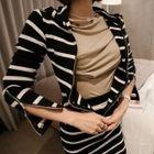 Set: Hooded Zip Knit Jacket + Ruffle Maxi Skirt 1596