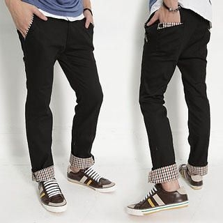 Picture of SERUSH Check Trim Pants 1022953102 (SERUSH, Mens Pants, Taiwan)