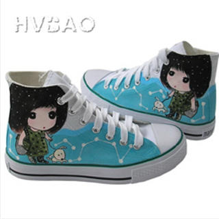 Buy HVBAO Girl & Pet High-Top Sneakers 1014440568