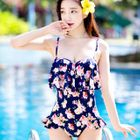 Floral Print Frilled Swimsuit 1596