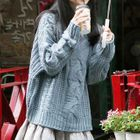 Set: Long-Sleeve Ruffle Hem Shirtdress + Sweater 1596