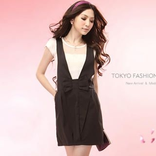 Buy Tokyo Fashion Inset Lace-Sleeve Top Jumper Dress 1023028163