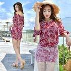 Set: Printed Bikini + Cover-Up + Lace Skirt 1596