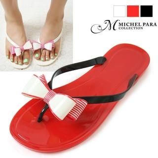 Buy MICHEL PARA COLLECTION Bow-Accent Flip-Flops 1023002983