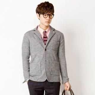 Single-Breasted Knit Blazer