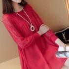 Maternity Lace Long-Sleeve Dress 1596