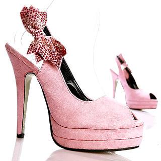 """Buy Kvoll Genuine Suede """"Bow"""" Platform High Heels 1022653574"""