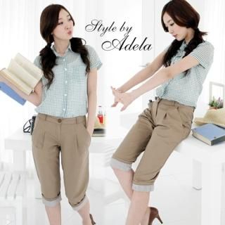 Picture of Adela Shop Cropped Pants 1022756433 (Womens Cropped Pants, Adela Shop Pants, South Korea Pants)
