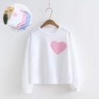 Heart Applique Sweatshirt 1596