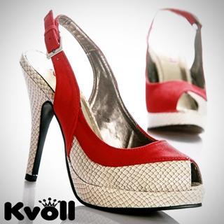 Buy Kvoll Snake Print Platform High-Heels 1022533075