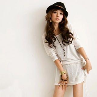Buy Cherry Story Tee-shirt Dress with Tie 1022328389