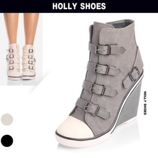 Buy Holly Shoes Buckled Wedge Sneakers 1023038904