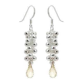 Silver, lemon quartz earrings - United states