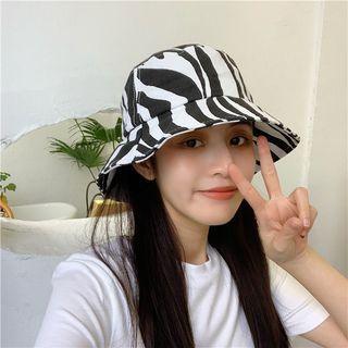 Bucket | Zebra | White | Black | Print | Hat