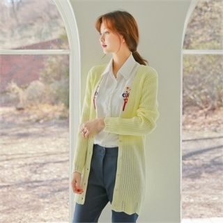V-Neck Ribbed Cardigan 1057789672