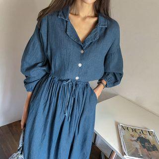 Dress   Dark   Blue   Size   One