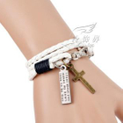 Cross Charm Braided Bracelet 1596