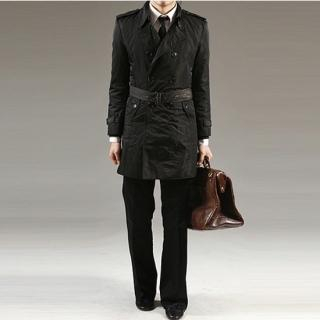 Buy STYLEHOMME Double-Breasted Belted Coat 1021530143