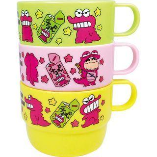 Crayon Shin-Chan Plastic Cup 3P Set (Chocobi) 1064233118