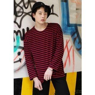 Round-Neck Stripe T-Shirt 1058344601