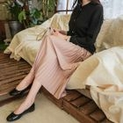 Band-Waist Accordion-Pleat Long Skirt 1596