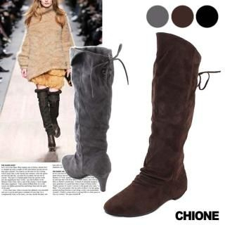 Picture of Chione Faux-Suede Boots 1021474675 (Boots, Chione Shoes, Korea Shoes, Womens Shoes, Womens Boots)