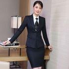 Blazer / Dress Pants / Mini Pencil Skirt / Vest / Set 1596