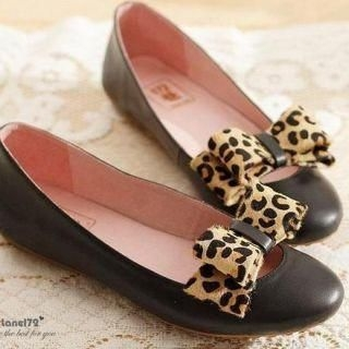 genuine-leather-bow-accent-flats