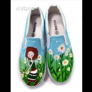 Picture of HVBAO Picking Flowers Slip-Ons 1020298195 (Slip-On Shoes, HVBAO Shoes, Taiwan Shoes, Womens Shoes, Womens Slip-On Shoes)