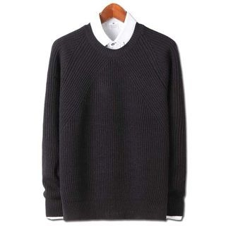 Round-Neck Ribbed Sweater 1057255421