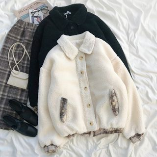 Fluffy Button-up Jacket